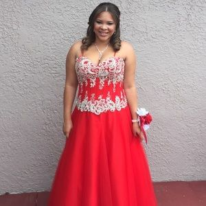 Dresses & Skirts - Original, 6 layer, Red Prom/Quinceañera Dress